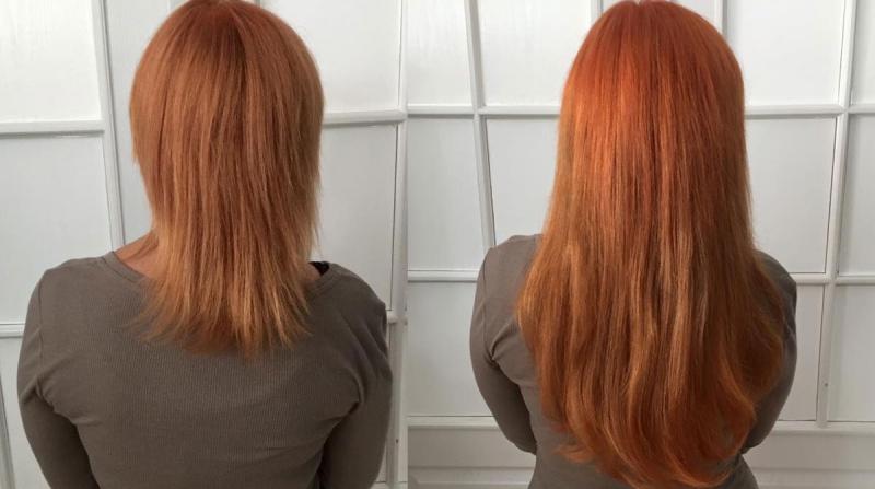 Długie, rude włosy